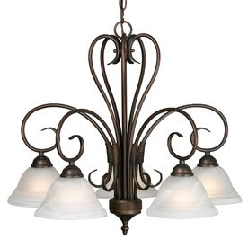 5-Light Collette Rubbed Bronze Chandelier