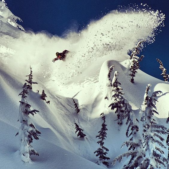 Sometime spraying is all the fun!!  Photo by methodmag  #snowboarding