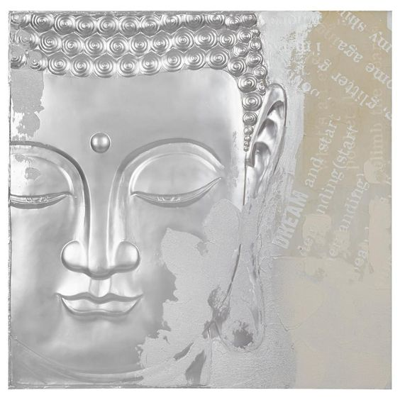 Tableau bouddha m tallique tableaux d cor mural office inspi - Tableau metallique ikea ...