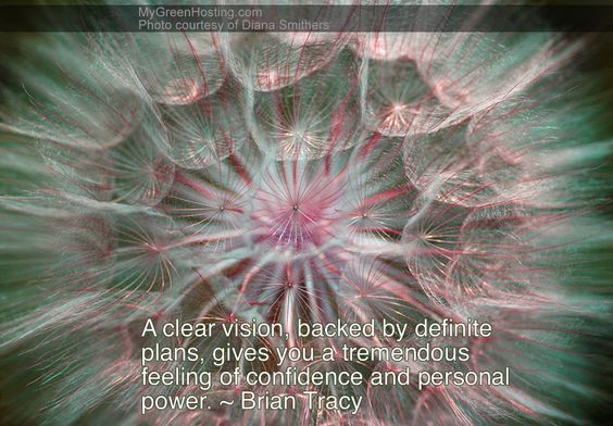 """Quote from Brian Tracy, one of our favorite coaches and speakers:    """"A clear vision, backed by plans, gives you a tremendous feeling of confidence and power."""""""