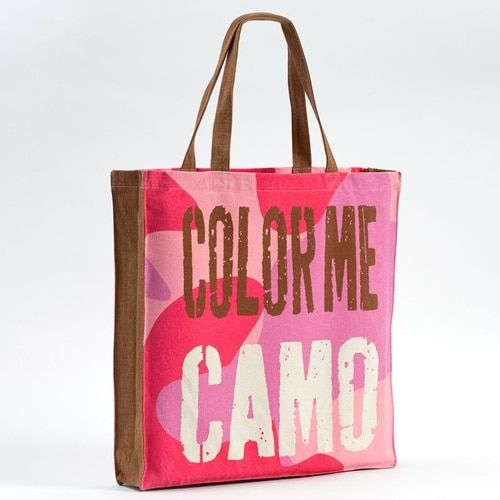 Enesco Homefront Girl Color Me Tote Camo 16.7-Inch