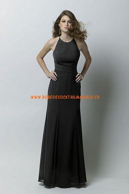 robe simple longue 2013 noire robe de soiree mousseline With robe simple longue