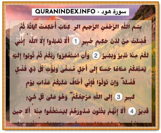 11 Surah Hud سورة هود Quran Index Search Quran Verses Quran Verses