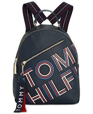 Tommy Hilfiger Adari Small Backpack Coated Twill Logo Travel Bag