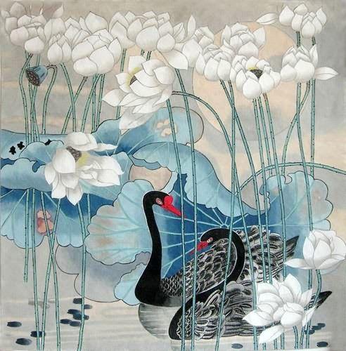 Swan by Zhao Guo Hua: