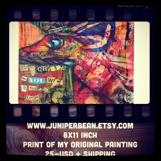 Print for sale 8x10 inches  Sock puppetry fun Www.mariwardart.com