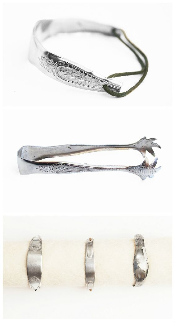 #Bracelet, #Craft, #Jewelry, #Silver, #Silverware, #Tutorial, #Upcycling