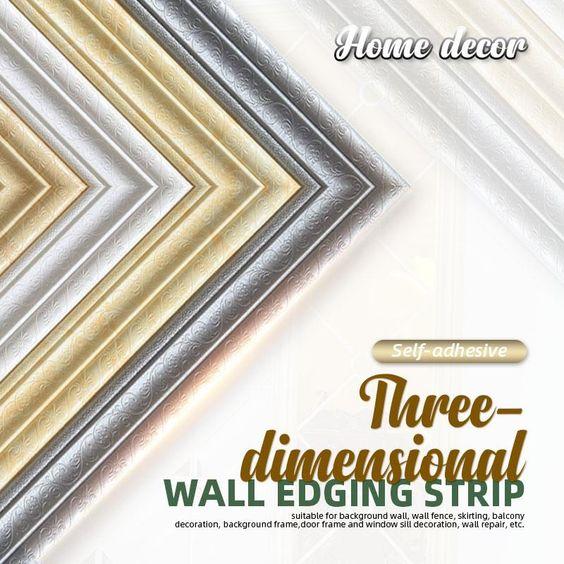 Self Adhesive 3d Wall Edging Strip 7 55 Feet In 2020 Dimensional Wall Adhesive 3d Wall