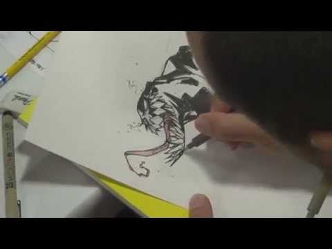 ▶ Francisco Herrera drawing Venom - YouTube