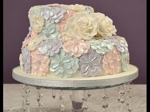 Karen Davies Cake Decorating Moulds / Molds. Free beginners tutorial / how to - Hydrangea cupcake - YouTube