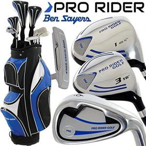"""NEW 2016"" BEN SAYERS PRO RIDER COMPLETE GOLF SET IRONS WOODS PUTTER & CART…"
