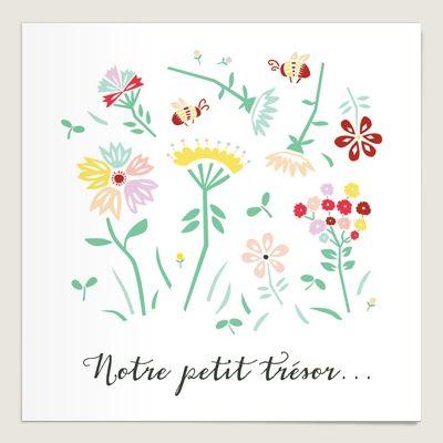 Faire-part de naissance motifs fleurs Brise d'avril. Un faire-part Dioton plein de poésie (encore plus que les autres)