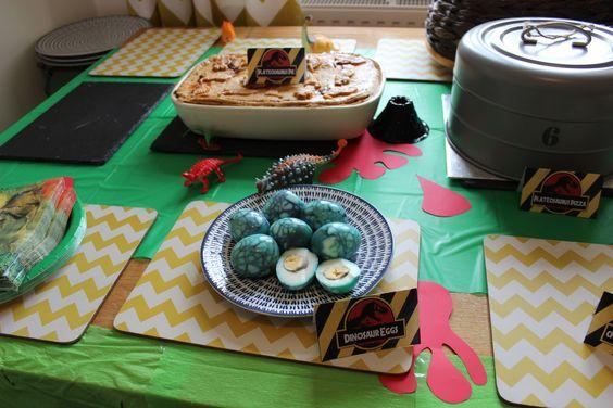Jurassic Park dino eggs (marbled eggs)
