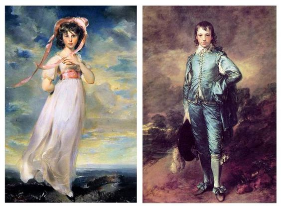 Pinkie, Thomas Lawrence, and The Blue Boy, Thomas Gainsborough. I saw both of these at The Huntington Art Museum.,