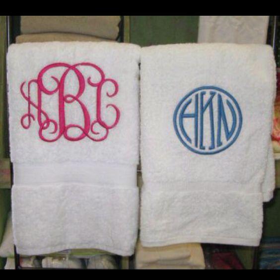 Enjoyable Monogrammed Hand Towels Fabric Pinterest Initials Hairstyles For Women Draintrainus