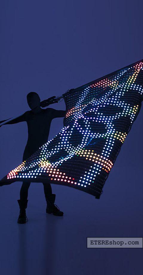 smart light up flag with 2520 leds