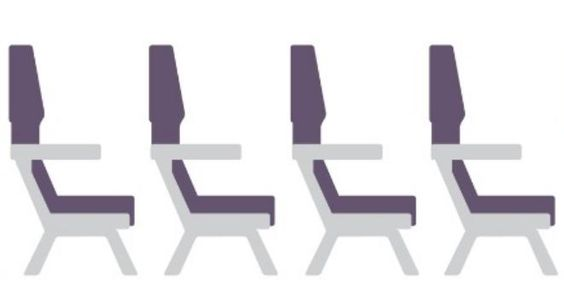 A GIF Comparing Legroom On Major US Airlines