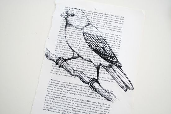 Tutorial on how to print on a book page.  It's easy!
