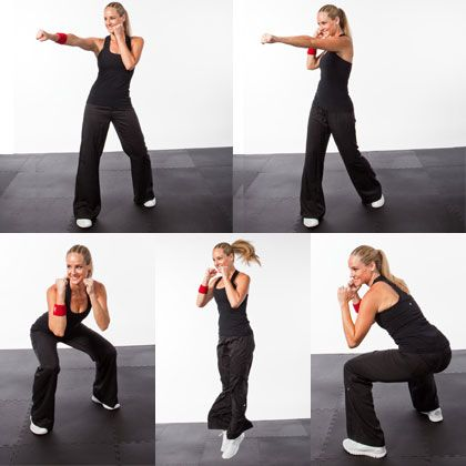 Killer Kickboxing Workout...definitely incorporating these reps into my kb workouts!
