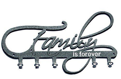 beautifully idea key holders for wall. Key holder Family is forever beautiful key hook for wall 5 hooks silver  ho Pinteres