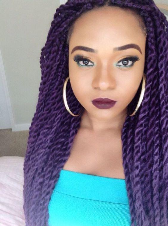 Purple Twists | ~HAIR, HAIR & MORE HAIR~ | Pinterest ...