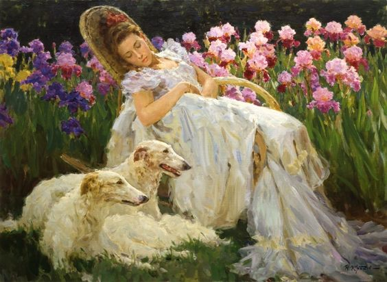 «Dream of Iris»; 73х100; oil on canvas; 2001.
