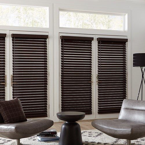 Cordless 2 1 2 Inch Faux Wood Blinds Blinds Com In 2020 Blinds For Windows Living Rooms Faux Wood Blinds Wood Blinds
