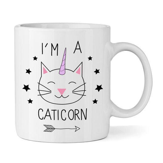 I M A CATICORN 325,3 ml BECHER TASSE Einhorn Tiere Lustig Katze Neuheit