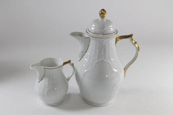 Kaffeekanne + Milchkännchen Rosenthal Sanssouci Porzellan 20er Jahre