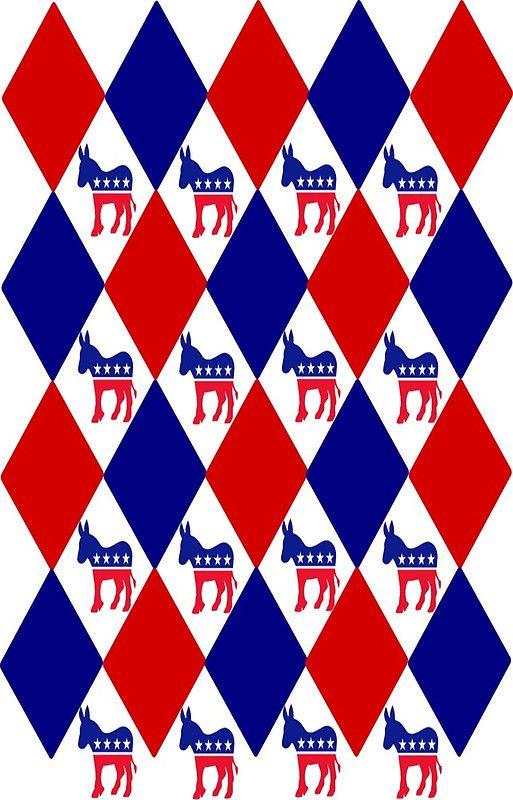 Democratic Donkey Symbol Argyle Pattern by csinvitestoo