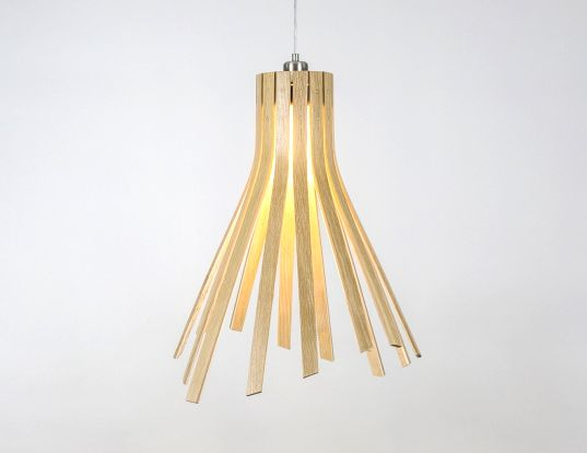 Tom raffields beautiful flux pendant lights are made from sustainably sourced oak pendant lighting tom raffield and flux light