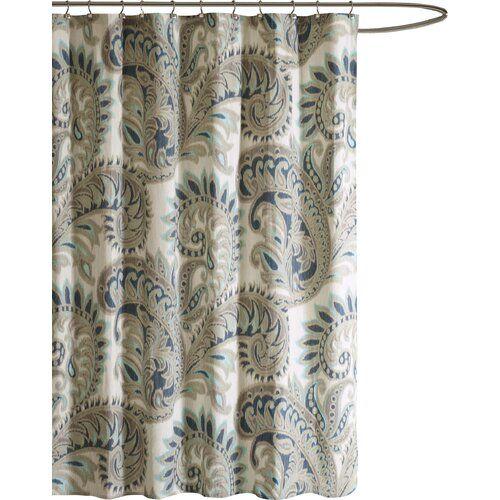 Lewes Cotton Single Shower Curtain Shower Curtain Curtains