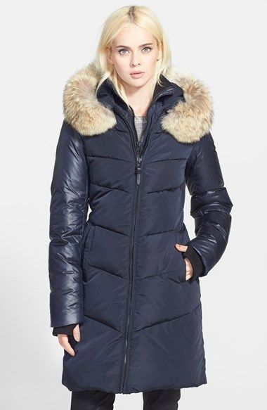 Rud by Rudsak Chevron Quilted Puffer Coat with Genuine Coyote Fur Trim (Online Only) available at #Nordstrom