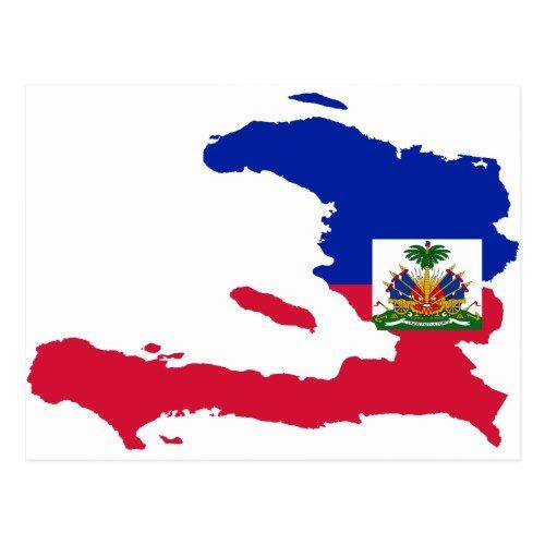 Haiti Flag Map Ht Postcard Zazzle Com In 2020 Haiti Flag Haiti Flag