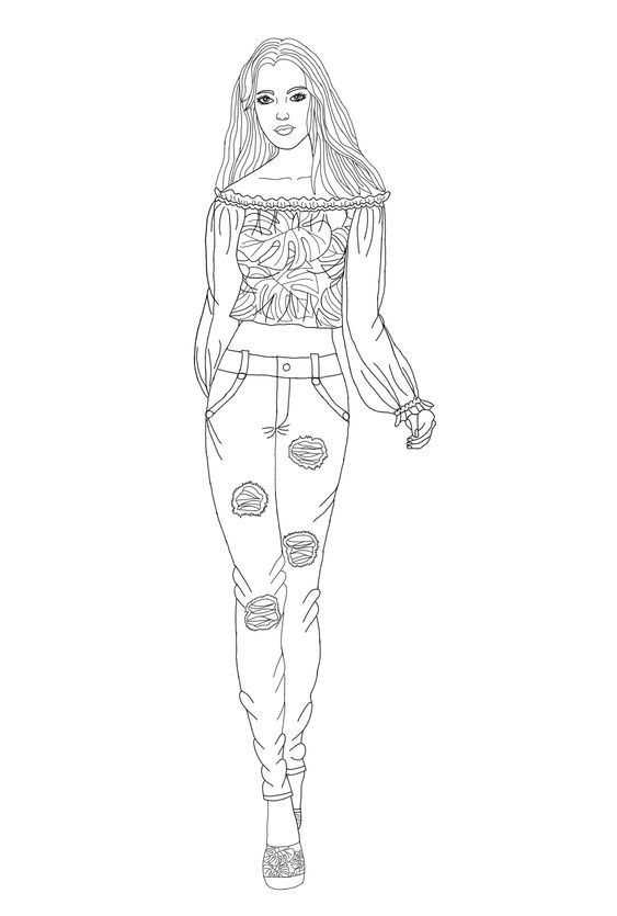 Omeletozeu Fashion Coloring Book People Coloring Pages Coloring Pages