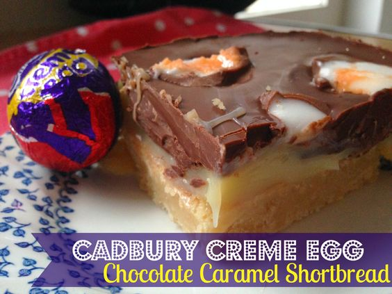 Creme Egg Chocolate Caramel Shortbread | Recipe | Homemade caramels ...