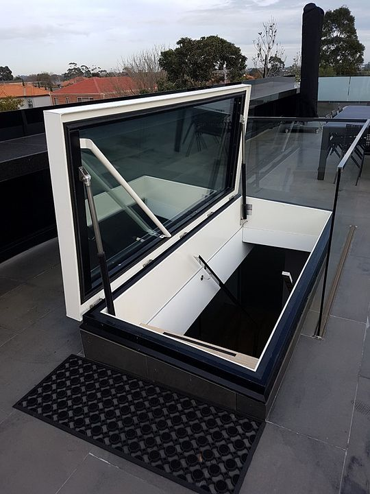 Gallery Of Roof Hatch Glazed Rhtg 11 In 2020 Flat Roof Design Roof Hatch Rooftop Terrace Design