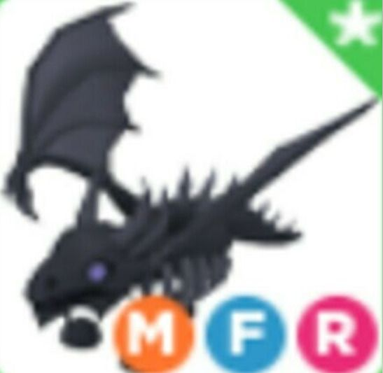 Mega Neon Shadow Dragon Raffle Adopt Me Roblox (read Description