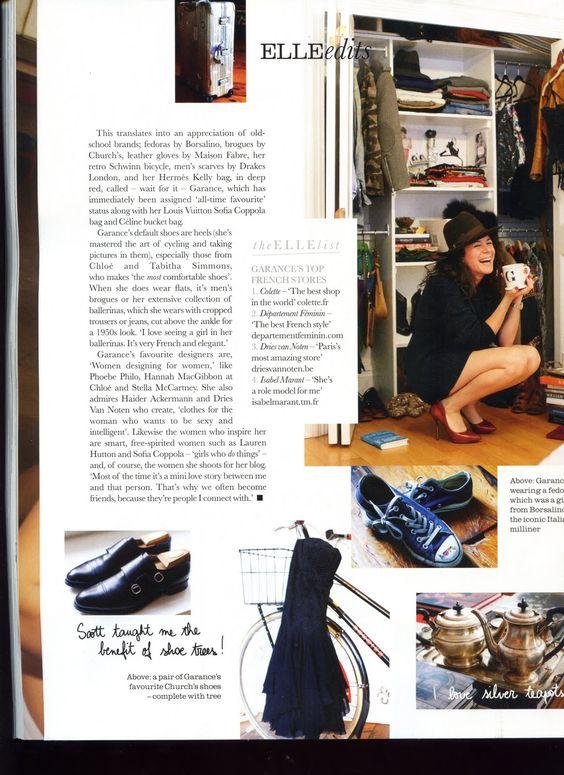 Elle UK Closet Confidential: Garance Dore