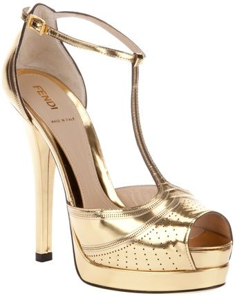 FENDI Leather Sandal   dressmesweetiedarling. WANT.