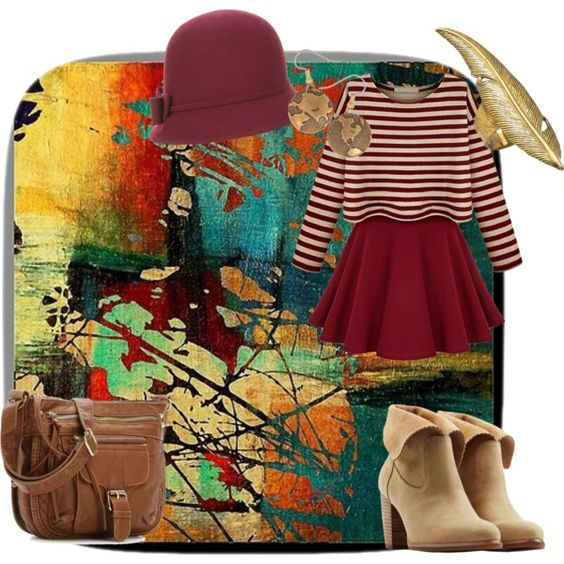 Art Gallery Date by siarai on Polyvore featuring polyvore fashion style UGG Australia HEATHER BENJAMIN Accessorize