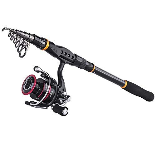 Goture Bass Fishing Rod Trout Telescopic Rod Spinning Rod Reel Combos Carbon Fiber Pole With Sea Saltwate Bass Fishing Bass Fishing Rods Saltwater Fishing Rods