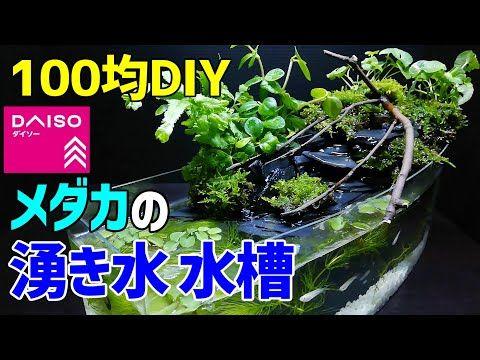 メダカの 湧き水 水槽 作り方100均diy メダカ室内飼育 ダイソーアイテムで作成 How To Make Tabletop Waterfall Fountain Aquarium Youtube メダカ ビオトープ 作り方 ビオトープ メダカ