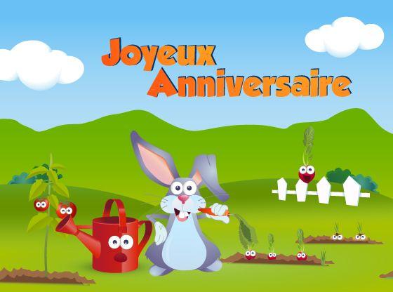 Ma Carte Anniversaire Joyeux Anniversaire Du Lapin Rigolo Carte Virtuelle Anniversaire Carte Anniversaire Carte Anniversaire Enfant