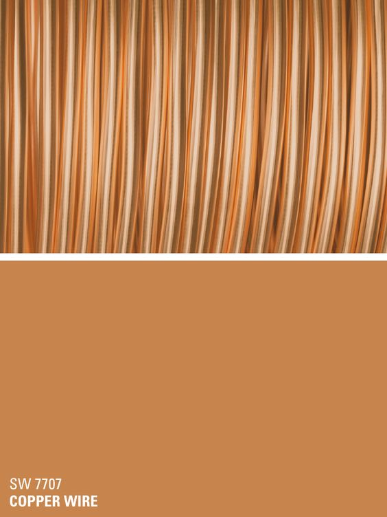 Sherwin williams orange paint color copper wire sw 7707 for Orange paint colors