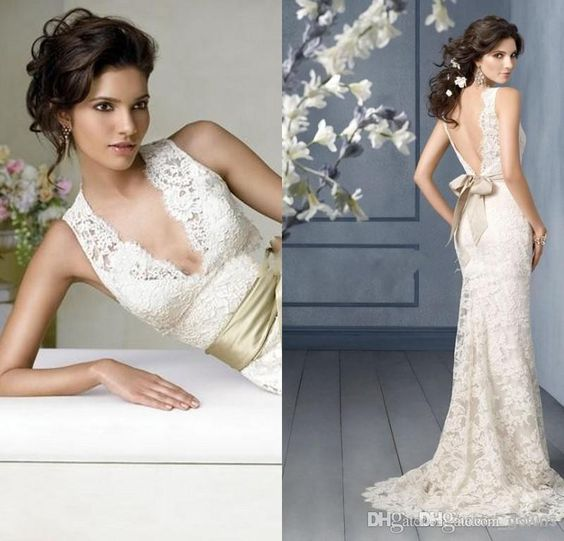 Free shipping, $183.38/Piece:buy wholesale V Neck Ivory Lace Mermaid Garden Fall Elegant Wedding Dresses Backless Wedding Dresses from DHgate.com,get worldwide delivery and buyer protection service.