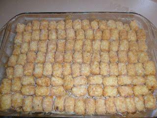 cheesy southwestern tatertot casserole | Three Little Monkeys