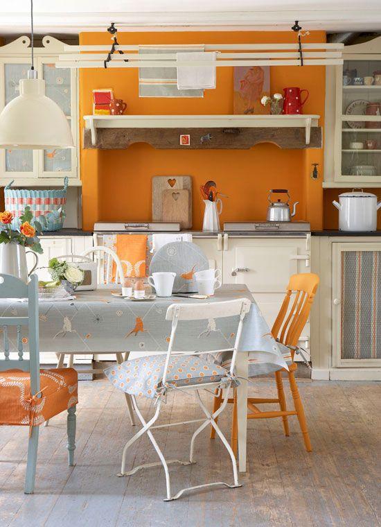 Laranja + Coral + Terracota + Amarelo = Inspirações para Nova Cozinha
