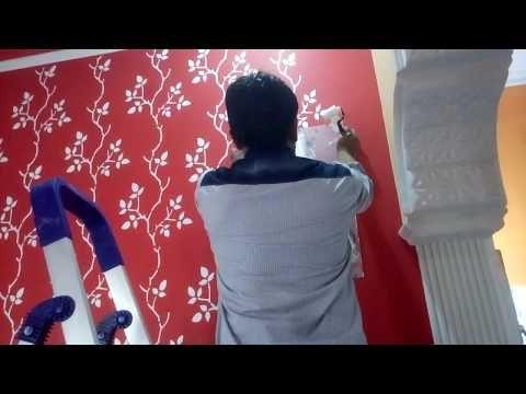 Grape Vine Stencil Wall Fashion Asian Paints Royale Play Design