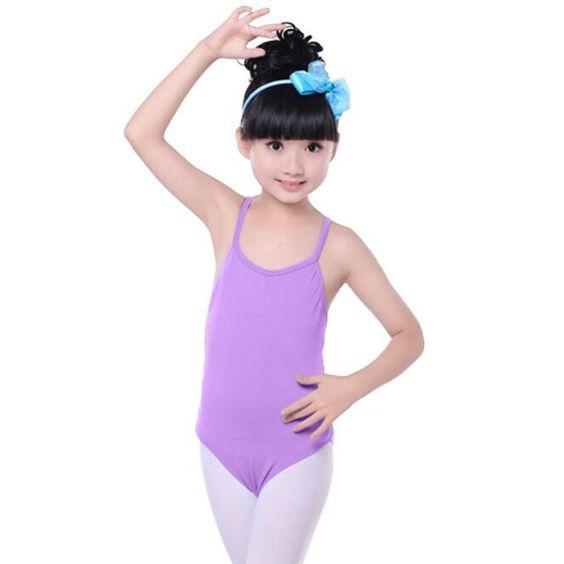 Cotton Gymnastics Leotards for Girls Leotard Dance Costumes Sportswear Purple